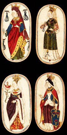 15th century playing cards | round of their rotating exhibit of a set of 15th-century playing cards ...