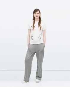 ZARA - COLLECTION SS15 - EMBROIDERED T-SHIRT