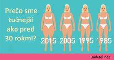 3 dôvody, prečo sme dnes tučnejší ako pred 30 rokmi (nie je to strava, ani cvičenie) Weight Control, Weight Gain, Weight Loss, Good Prayers, Lose Body Fat, Get Moving, The Good Old Days, Get Healthy, Feel Better