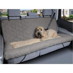 Mix together your pup's 2 favorite things - car rides and naps - with the Car Cuddler from Solvit. This cozy ride is fitted for car seats and features a central bed section in between a pair of generous side bolsters that keep your dog in place. Car Dog Bed, Dog Car Seats, Dog Beds, Dog Car Seat Covers, Dog In Car, Le Plus Grand Chien, Dog Car Accessories, Motorcycle Accessories, Dog Ramp