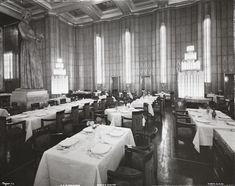 Dining salon, SS Normandie
