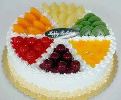 Fruit Birthday Cake, Bithday Cake, Cake Decorating Designs, Cake Decorating Videos, Fresh Fruit Cake, Fruit Ice, Buttercream Cake Designs, Chocolate Fruit Cake, Cake Story