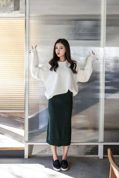 Buy Fleece Fuzzy Sweater at Korean Fashion Store. Find more Korean tops and clothes trending in South Korea right at our online clothing store. We add new Korean fashion everyday and are constantly on the look-out for the newest fashion trends. Modest Outfits, Modest Fashion, Hijab Fashion, Fashion Beauty, Girl Fashion, Casual Outfits, Cute Outfits, Fashion Outfits, Fashion Design