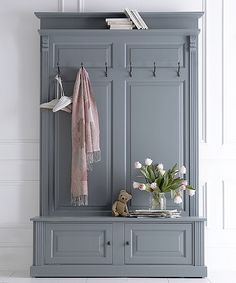 Bespoke painted French Empire panelled hall stand- Bespoke painted French Empire panelled hall stand Give your hallway an instant makeover with our new collection of hall stands – and finally a place for coats shoes keys and all the usual hallway - Coat Cupboard, Hall Cupboard, Hallway Cupboards, Hallway Storage, Hall Storage Ideas, Room Interior, Interior Design Living Room, Living Room Designs, Coat And Shoe Storage