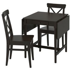 Ingatorp Ingolf (IKEA Table And 2 Chairs) ( Furniture > Dining Furniture > Dining Table Chair > Dining Sets ) #29400559
