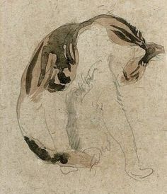 By John, Gwendolen Mary - Sketch of a cat