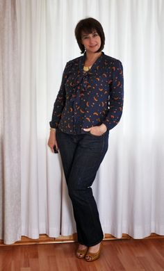 Boyfriend Jeans and a navy floral shirt. #Woolworths #Mr. Price #Edgars