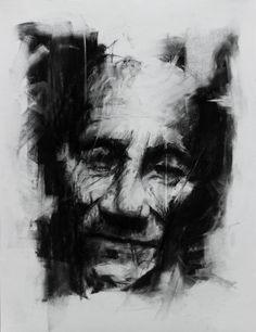 Pour tuer le temps 60 x 40 cm Charcoal on papier The Hyde's Asylum