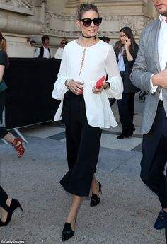 Routine: On Wednesday, Olivia Palermo, 30, made an appearance at the Barbara Bui runway pr...