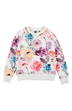 molo 'Raewyn' Long Sleeve Floral Print Top (Little Girls & Big Girls) available at #Nordstrom