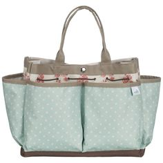 Country Living Canvas Bag - pretty way to tote garden tools!