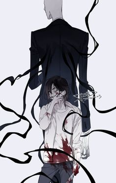 Slenderman and Jeff the Killer - blood