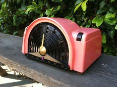 RARE 1950's Emerson 744B Atomic Mid Centurytube Radio Pink Black Mirror Finish | eBay