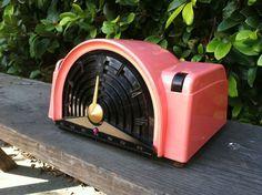 RARE 1950's Emerson 744B Atomic Mid Centurytube Radio Pink Black Mirror Finish | eBay