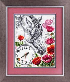 Horse Clock Cross Stitch Kit