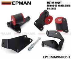 EPMAN For EK HONDA CIVIC 96 97 98 99 00 H22A/H23/H22 ENGINE MOTOR MOUNT SWAP KIT H-SERIES EP13MM96HD5H