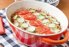 Mit ein bisschen Mühe siehts doch gleich viel schöner aus Tomaten Zucchini Auflauf