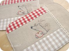 linen coasters... by a n a ♥, via Flickr