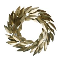 Gold Metal Leaf Wrea