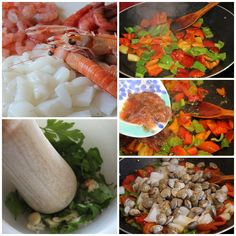 Paella paso a paso Ceviche, Flan, Mashed Potatoes, Carrots, Seafood, Mexican, Healthy Recipes, Vegetables, Ethnic Recipes