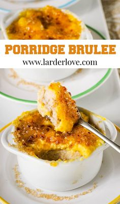 Porridge Brulee, when Scotland meets France for the Auld Alliance and the perfect little creamy and luxurious dessert #scottishcooking #porridge #easydesserts #cremebrulee #larderlove Easy Desserts, Delicious Desserts, Dessert From Scratch, Porridge Recipes, Scottish Recipes, Larder, Creme Brulee, Scotland, Easy Meals
