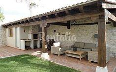 Balkon – Home Decoration Outdoor Rooms, Outdoor Gardens, Outdoor Living, Outdoor Decor, Spanish Style Homes, Spanish House, Backyard Patio Designs, Backyard Landscaping, Garden Cottage