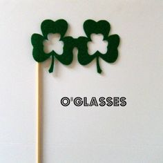 Clover glasses on a stick
