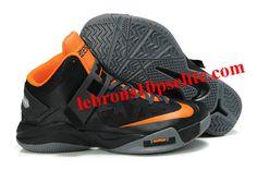 3b94a4e99d38 Nike Zoom Zoom LeBron Soldier 6(VI) Black Orange Gray Nike Zoom