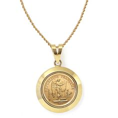 Shop for American Coin Treasures Gold King George V Gold Sovereign Coin Dome Bezel Pendant Necklace. Get free delivery On EVERYTHING* Overstock - Your Online Jewelry Destination! Coin Pendant Necklace, Gold Pendant, Men Necklace, Pendant Jewelry, Gold Sovereign, Gold Value, Gold Chains For Men, Coin Ring, Coin Jewelry