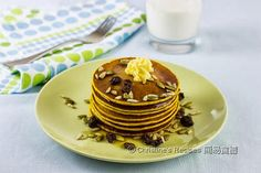 Pumpkin Pancakes from Christine's Recipes Easy Chinese Recipes, Easy Recipes, Christine's Recipe, Crepe Cake, Pumpkin Pancakes, Chinese Food, Food To Make, Easy Meals, Cooking Recipes