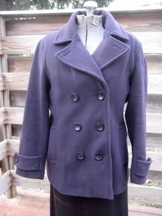 Lands' End Women's Petite Luxe Wool & Cashmere Pea Coat. A true work of art, this luxurious Pea Coat is crafted with impeccable quality and details. The fabric contains a luscious blend of virgin wool and sumptuous cashmere for an elegant appearance and wonderfully soft touch.