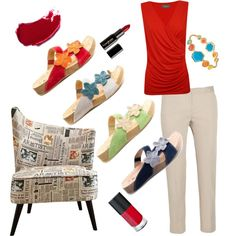 """""""Red Chic with Romika shoes"""" by dorisanddaisy on Polyvore"""