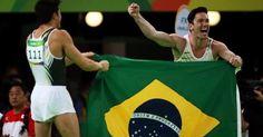 Brasil faz dobradinha na ginástica com Diego Hypólito e Arthur Nory