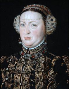 catalina de Austria. Hija de Juana la loca y Felipe el Hermoso. Hermana de Carlos I. reina de portugal. sanchez coello