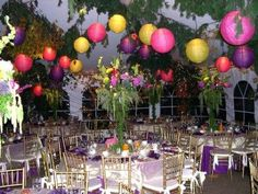 great adult birthday party ideas for creating overhead decorations that draw the eye upward nicely