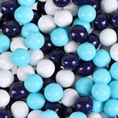 Light Navy Blue Color | Navy Blue, Powder Blue & White Sixlets • Milk Chocolate Candy Balls ...