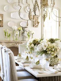 Top 100 Christmas Table Decorations - Christmas Decorating - #Holiday #Christmas #Home #Interior #Design #Decor ༺༺  ❤ ℭƘ ༻༻