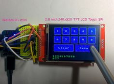 2.8 inch 240×320 TFT LCD Touch Panel 구입하기 >> 2.8″ Touch LCD SPI for esp8266 (nodemcu), NailBuster Software Inc. Instructions: You will need to install the adafruit gfx library into Ardui…