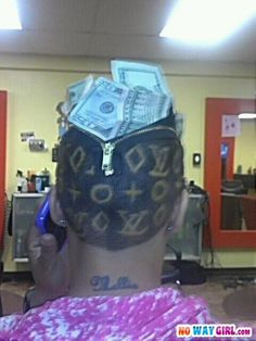 When you can't afford Louis Vuitton hairstyle