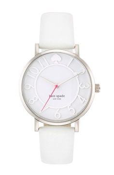 kate spade new york 'metro' saffiano leather strap watch, 34mm available at #Nordstrom
