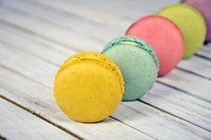 http://500px.com/photo/189062691 French macarons by liveslow -variety of French macarons arranged in a row on whitewashed wood. Tags: yellowmacrobluewoodpinkfoodpurplecakesweetsaquacolorfulrusticrowdessertcookieweatheredwhitewashedpastrymacaroonmacarontreatvarietyconfectionindulgenceFrench macaronwhitewashed wood
