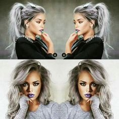 Don't think she ever had grey hair, but this looks amazing!!!