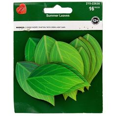 """Craft your creativity with wood! Green Leaves Painted Wood Shapes features vibrant green that will easily correspond with any springtime or garden theme. Use them all together, or separate them. Attach them to frames, posters, tins, magnets, and so much more.    Dimensions:      Length: 2 1/4""""    Width: 1 1/4""""      Each package contains 16 pieces."""