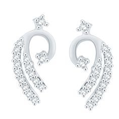 Giantti White Gold 14KT Diamond Women's Stud Earring - IGL Certified (0.21 Ct, SI Clarity, GH-Colour) *** Details can be found by clicking on the image. (This is an affiliate link) #Earrings