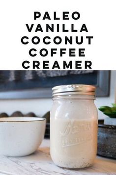 Coffee Recipe – Paleo Vanilla Coconut Coffee Creamer BEST Coffee Recipe ever! Paleo coffee creamer that is to die for! I am in love with this Paleo Vanilla Coconut Coffee Creamer! It's even better than Bulletproof Coffee! Paleo Coffee Creamer, Homemade Coffee Creamer, Coconut Milk Creamer Recipe, Non Dairy Creamer, Biryani, Coconut Cream Coffee, Smoothie Vert, Coconut Recipes, Paleo Recipes