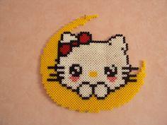 Hello Kitty hama perler beads by babou71500