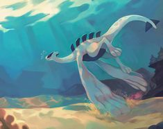Calm waters by salanchu on DeviantArt Pokemon Lugia, Old Pokemon, Pokemon Comics, Pokemon Cards, Pikachu, Cool Pokemon Wallpapers, Cute Pokemon Wallpaper, Lion Wallpaper, Pokemon Fusion Art