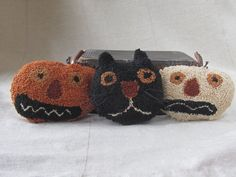 Pattern: Punch needle Spooky Trio Doodle by CottageThreadsShoppe