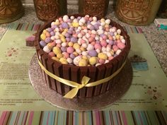 Kit Kat mini egg chocolate birthday cake!