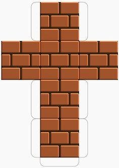 Super Mario Downloadable Brick Block Template